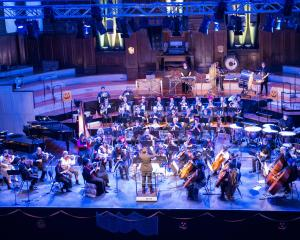 The Dunedin Symphony Orchestra performs during its ''Halloween Spooktacular'' concert of popular...