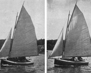 New 14-foot yachts built at McPherson's yard: Heather (left) and Eunice. — Otago 
