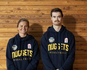 New Otago Nuggets assistant coaches Suzie Bates and Hamish Robertson. PHOTO: ANGELA RUSKE