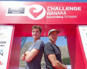 Kyle Smith and Braden Currie will battle it out in today's Challenge Wanaka. PHOTO: KERRIE...