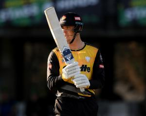 Finn Allen smashed 128 off just 59 balls against Otago. Photo: Getty Images