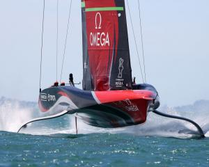Team New Zealand in action during Prada Cup racing in Auckland earlier this month. Photo: Getty...