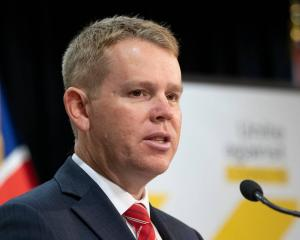 Covid-19 Response Minister Chris Hipkins during an update at Parliament in Wellington earlier...