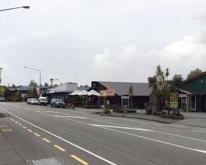 A deserted Franz Josef main street. PHOTO: SUPPLIED