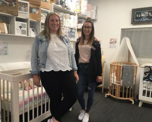 Baby on the Move Dunedin owner Jess Dalton and team member Aleisha. Photo Supplied
