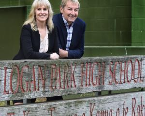 Logan Park High School co-principals Kristan Mouat and Peter Hills, who had to manage New Zealand...