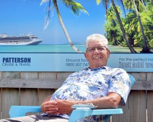Retiring Dunedin travel agent Murray Patterson (71) relaxes at home. PHOTO: GREGOR RICHARDSON.