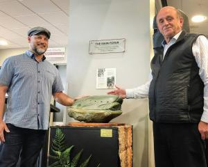 A touchstone from Southland artist Johnny Penisula was given to the city by the ILT to celebrate...