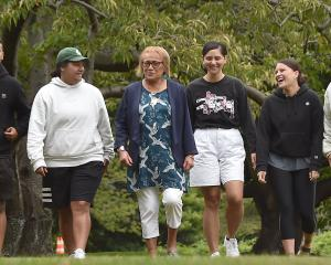 Retiring Maori Centre tumuaki/manager Pearl Matahiki (third from left) talks with University of...