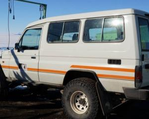 "Antarctica New Zealand brought the ""iconic"" 2004 Toyota Landcruiser Troop Carrier back to New..."