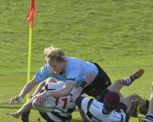 Samuel Dickson, pictured here playing for the University club in Dunedin, says he has moved to...