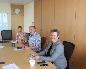 At a media protocol clarification meeting in Invercargill yesterday are (from left) Invercargill...