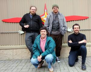 Atawhai Interactive Ltd game developers (from left) Max Howard-Martens, Lisa Blakie, Connor...