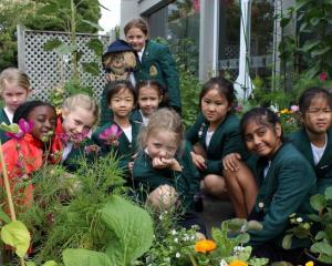 St Margaret's College Junior School students Molly, Zoe, Inka, Phoebe, Millie, Amelia, Sophie,...