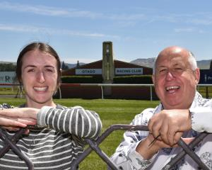 Looking forward to a big day at Wingatui today are Otago Racing Club assistant general manager...
