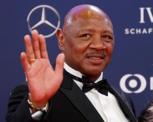 Marvin Hagler arrives for the Laureus World Sports Awards ceremony at Salle des Etoiles, Monaco,...