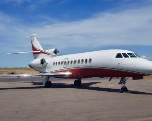 Queenstown-bound: This Dassault Falcon 900 will be regularly flying in high-net-worth visitors....