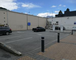 Untenanted car parks in Queenstown's Athol St on Wednesday afternoon, where the rate is $4 an...