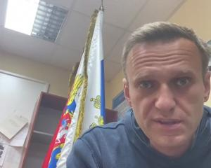 Alexi Navalny was jailed in February for parole violations on what he says were politically...