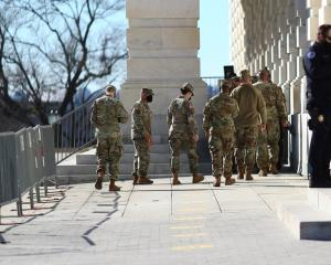 Since January 6, National Guard troops have been dispatched to the Capitol grounds and tall...