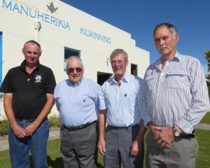 Awarded New Zealand Merino Shearing Society life memberships are (from left) Greg Stuart, of...