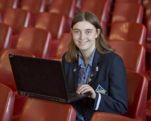 Otago Girls' High School pupil Carinn Gaspar has won two international awards. PHOTO: GERARD O'BRIEN