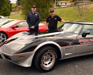 National Corvette Convention organisers Brett Ashton (left) and Gregory Scott at Sunnyvale...