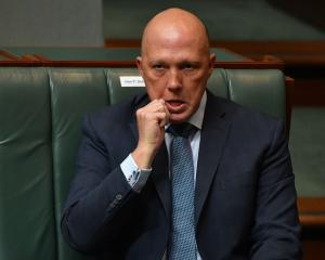 Australia's Minister for Home Affairs Peter Dutton. Photo: Getty Images