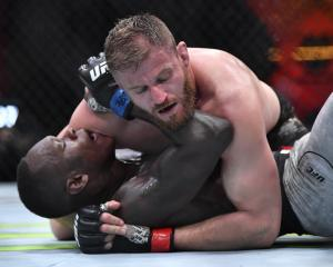 Jan Blachowicz controlled Israel Adesanya on the ground for much of the final two rounds. Photo:...