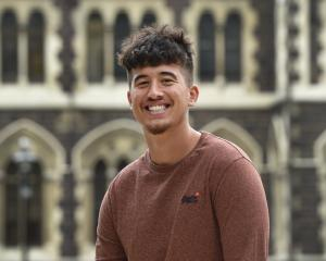 Tongan postgraduate student Jordan Quensell at the University of Otago yesterday. PHOTO: PETER...