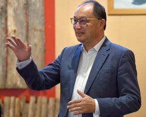 New Zealand race relations commissioner Meng Foon speaks at Dunedin's Araiteuru Marae last night....