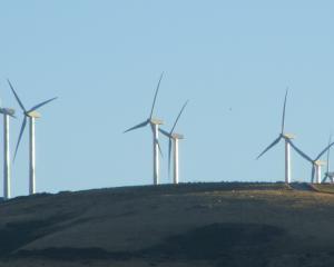Pioneer Energy's Mt Stuart wind farm, near Milton. Photo: ODT.