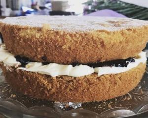 Mum's Victoria sponge is very easy to make. PHOTOS: ELSIE BERRY