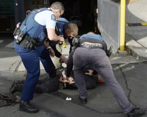 Armed police arrested a man after an incident at the DCC offices this morning. PHOTO GERARD O'BRIEN