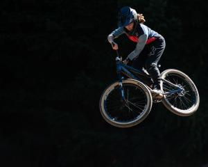 Queenstown-based mountain biker Vinny Armstrong in action during the Mons Royale Future Ground...