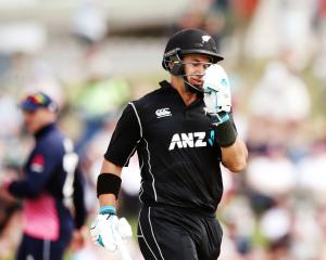 Ross Taylor during the second ODI against England in Tauranga. Photo: Getty Images
