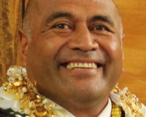 New district court judge Mike Mika at his swearing-in ceremony in the High Court at Invercargill...