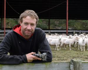 Shearer Mike Murphy, of Waimate, takes a break from an Elite Wool Industry Training course at...
