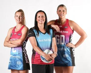 New Steel captain Shannon Saunders (left), Steel coach Reinga Bloxham (centre) and new Steel vice...