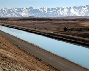 Tekapo canal. The second stage of plugging leaks in the canal system will start next year. Photo...