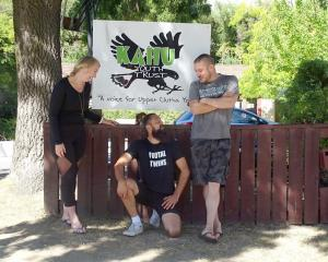 Youth workers Emma Hunter, Hemi Cordell and Richard Elvey, from Wanaka's Kahu Youth Trust, enjoy...
