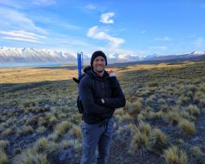 Otago University PhD student Nick Foster on Richmond Range researching the frequency and...