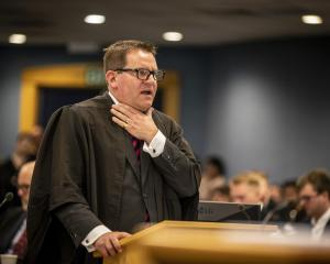 Crown prosecutor Robin McCoubrey at the Grace Millane murder trial.