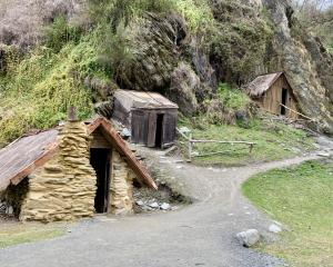 The Chinese goldminers built their little huts alongside Bush Creek. Photo: Justine Tyerman.