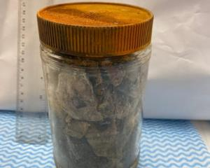 A jar containing holy bones and relics recovered from Christchurch's Catholic Cathedral. Photo:...