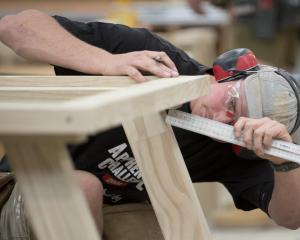 Matt Wadsworth apprentice Ryan Whitburn competes at the New Zealand Certified Building Apprentice...