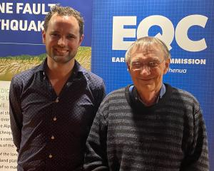Professor Tom Wilson and his former Mt Hutt College geography teacher Bruce Dickson at the alpine...