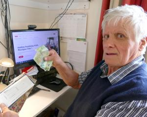 Tahakopa retiree Don Sinclair says many senior citizens still prefer cash or cheques over online...