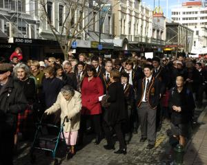 Protesters hit the streets of Dunedin over the proposed loss of neurosurgery services back in...