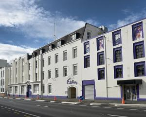 The Cadbury factory's Cumberland St, Dunedin, facade. ODT FILES
